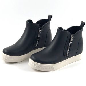 Steve Madden Wedgie-rb Sneakers black and white